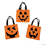 Polyester Jack-O'-Lantern Tote Bag Craft Kit
