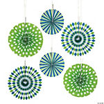 Preppy Print Blue & Green Hanging Fans