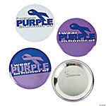Purple Awareness Ribbon Buttons