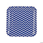 Purple Chevron Dinner Plates