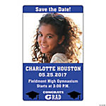 Purple Congrats Grad Custom Photo Magnets