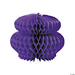 Purple Honeycomb Tissue Decorations
