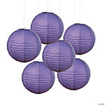 Purple Paper Lanterns