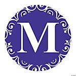 Purple Personalized Monogram Favor Stickers