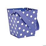 Purple Polka Dot Buckets with Ribbon Handle