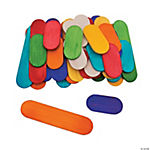 Rainbow-Colored Mini Craft Sticks