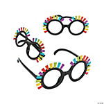 Rainbow Fringe Glasses