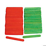 Red & Green Craft Sticks