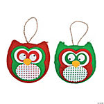 Red & Green Owl Christmas Ornament Craft Kit