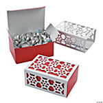 Red & White Snowflake Favor Boxes