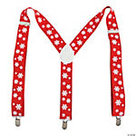 Red & White Snowflake Suspenders