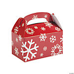 Red & White Snowflake Treat Boxes