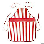 Red & White Striped Christmas Apron