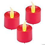 Red Battery-Operated Votive Candles