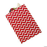 Red Chevron Cake Bags