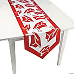 Red Congrats Grad Table Runner