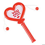 Red Heart-Shaped Mini Noisemakers