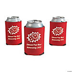 Red Personalized Superhero Can Covers