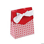 Red Tent Favor Boxes with Bow