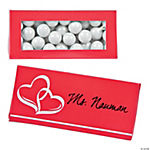Red Wedding Place Card Favor Boxes