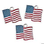 Red, White & Blue Flag Charms