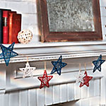 Red, White & Blue Star Garland