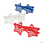 Red, White & Blue Star-Shaped Shutter Shading Glasses