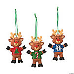 Reindeer with T-Shirt Christmas Ornaments