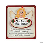 Religious Teacher Christmas Ornament