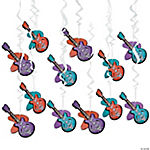 Rockin' 50s Guitar Hanging Swirls