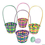 Round Bamboo Multicolor Baskets