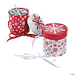 Round Christmas Favor Boxes