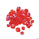 Ruby Aurora Borealis Cut Crystal Bicone Beads - 4mm-6mm