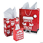 Santa's Stache Gift Bag Assortment