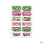 """Save 2nd Base"" Breast Cancer Awareness Face Tattoos"