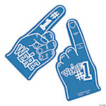 School Spirit Blue Foam Hands