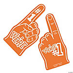 School Spirit Orange Foam Hands