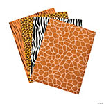 Self-Adhesive Wild Animal Print Foam Sheets