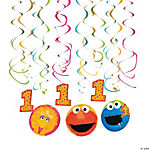 Sesame Street® 1st Birthday Hanging Swirls