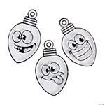 Silly Face Lightbulb Suncatcher Ornaments