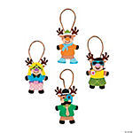 Silly Reindeer Ornament Craft Kit