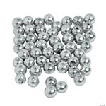 Silver & Grey Pearl Beads - 4mm