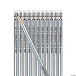 Silver Personalized Pencils