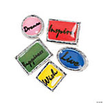 Silvertone Inspirational Floating Charm Assortment