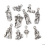 Silvertone Nativity Charms