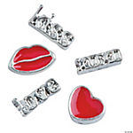 Silvertone Valentine Floating Charm Assortment