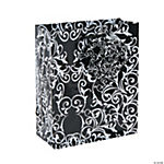 Small Black & White Wedding Gift Bags