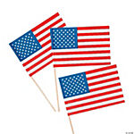 Small Paper American Flags on Sticks