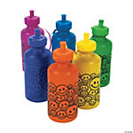 Smile Face Neon Water Bottles
