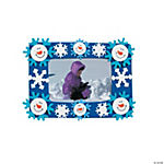 Smile Face Snowman Picture Frame Magnet Craft Kit